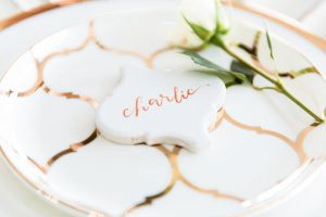 Photography: Samantha Leigh Studios | Floral and Design: Violet Rose Floral  | Stationery / Calligraphy: Oh Eleven Calligraphy | Cake: Haley's Bake Shop | Dress: Arena Bridal | Hair: Sam Radatz | Venue: Packard Proving Grounds | Model: Monica Nowak